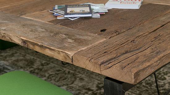 Oud eiken tafel op maat