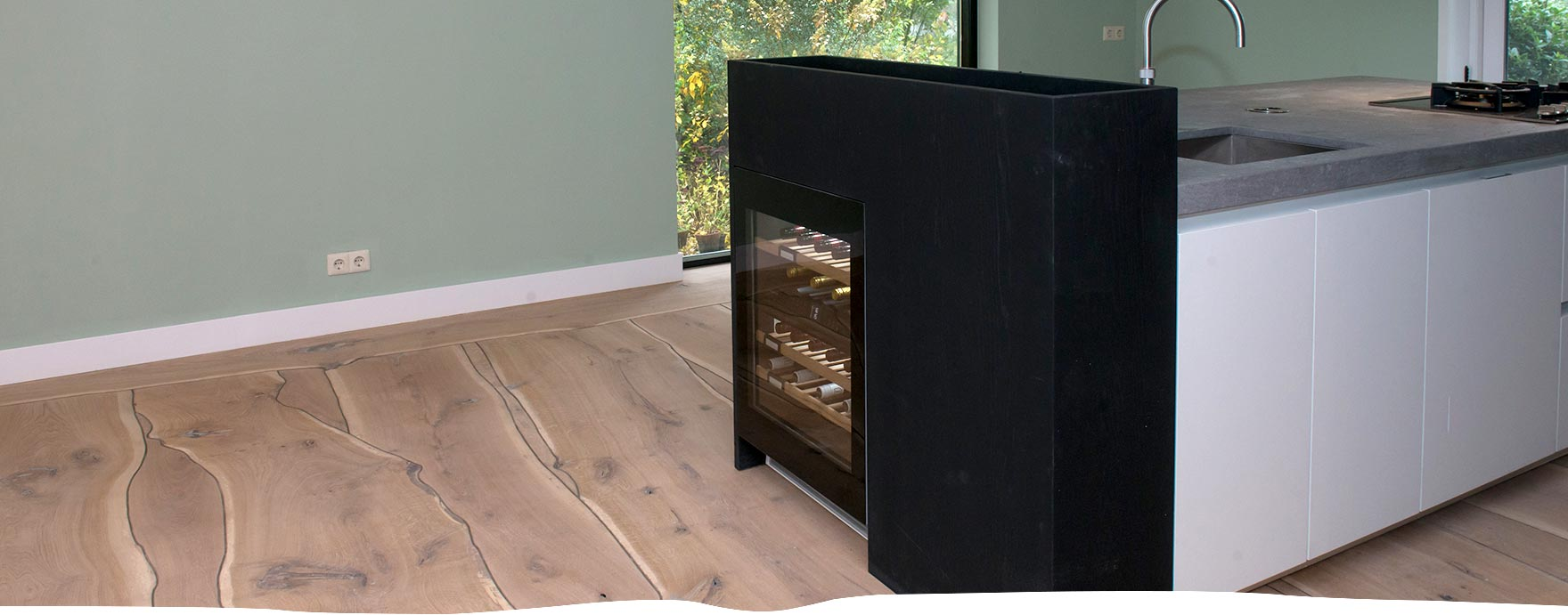 Boomstamvloer op vloerverwarming - De Hout Snip