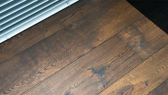 Karaktervolle duoplank vloer met vloerverwarming