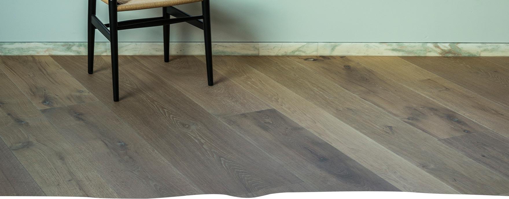 Wisselende breedtes duoplank vloer met vloerverwarming - De Hout Snip