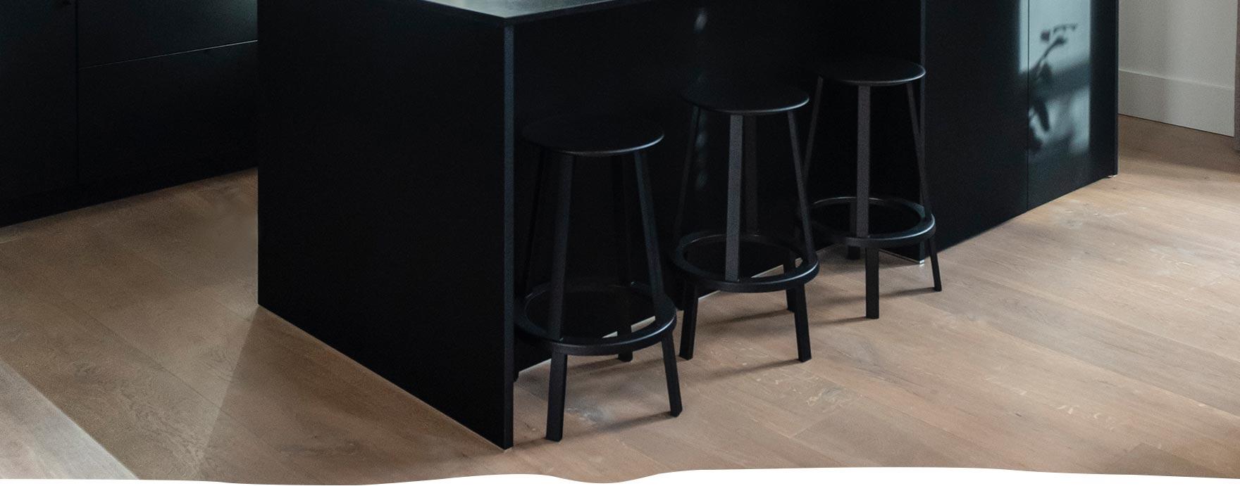 Bewerkte duoplank vloer met vloerverwarming - De Hout Snip