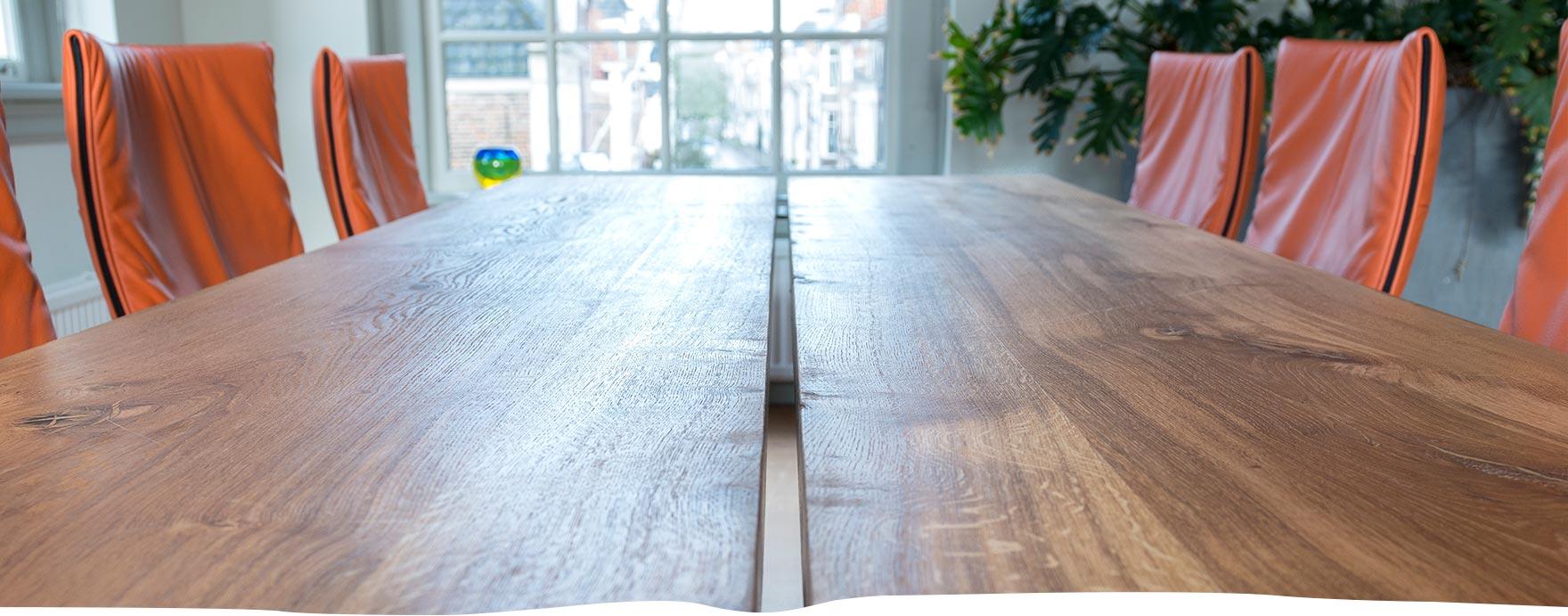 Eiken tafel op maat - De Hout Snip