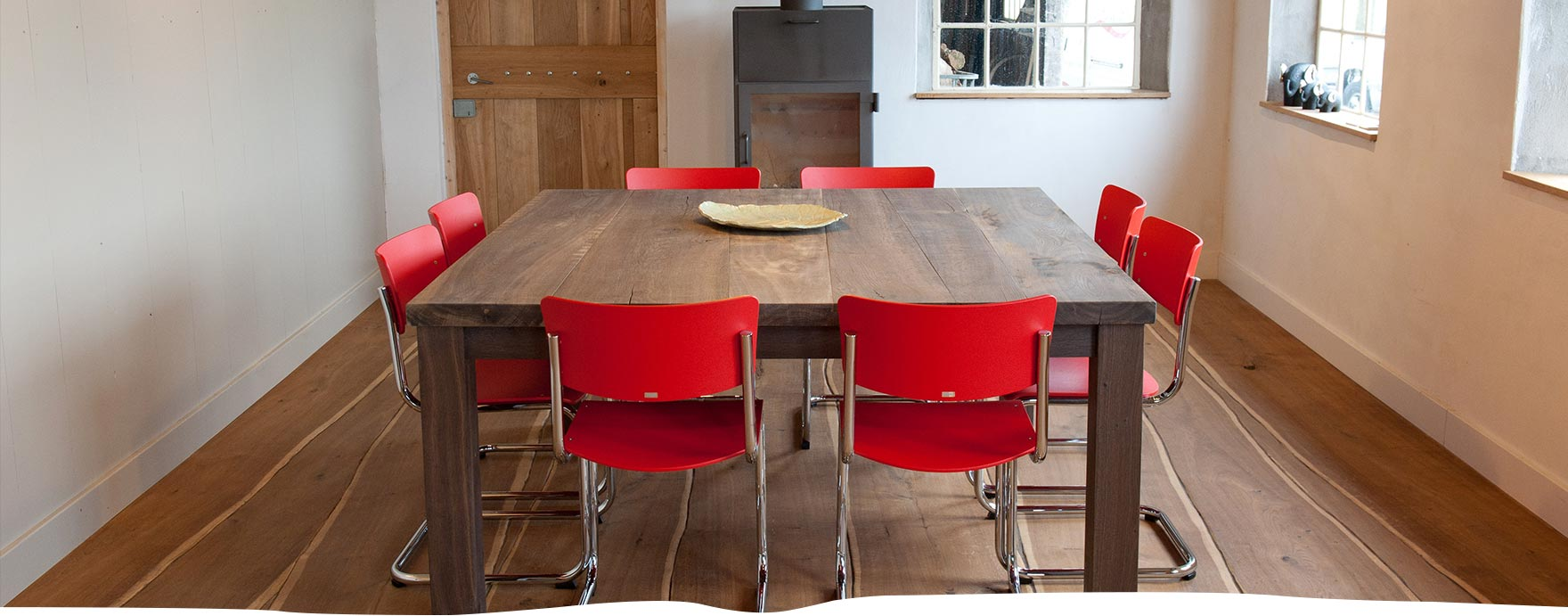 Vierkante massief Eiken tafel, gemaakt van Europees eiken - De Hout Snip