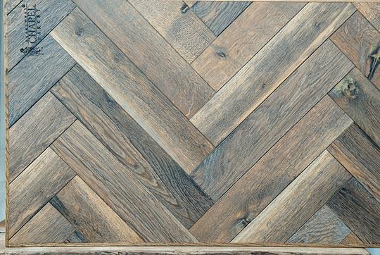 Visgraat eiken vloer de houtsnip